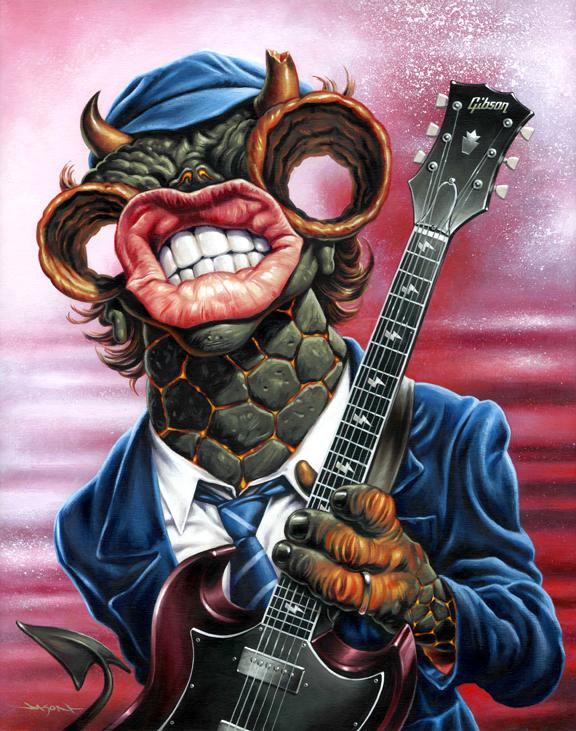 Angus Young by Jason Edmiston